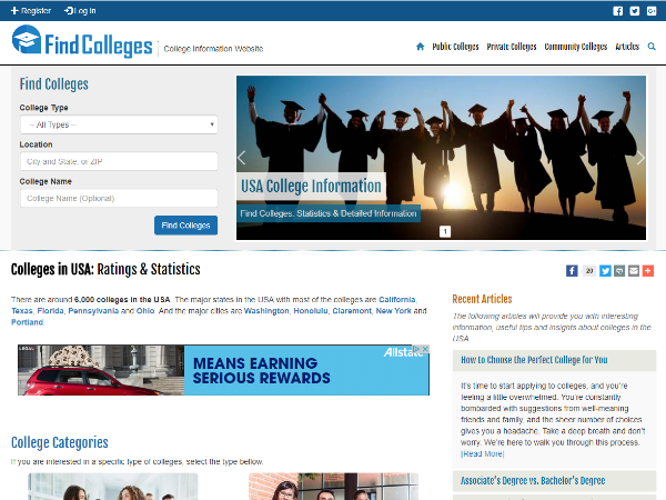 www.findcolleges.info